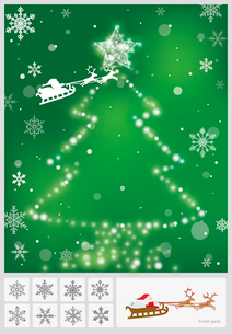 クリスマス: ツリーのイラスト素材 [FYI03061042]