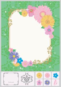 花のフレームのイラスト素材 [FYI03061059]