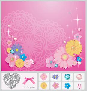 花のコラージュのイラスト素材 [FYI03061062]