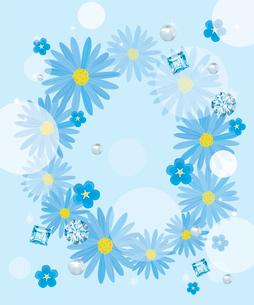 ブルーの花のコラージュのイラスト素材 [FYI03061074]