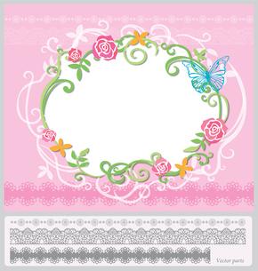 花のフレームのイラスト素材 [FYI03061081]