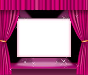 緞帳 ピンク・スクリーンのイラスト素材 [FYI03061112]
