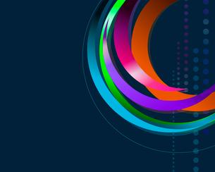 円を描くラインのイラスト素材 [FYI03061123]