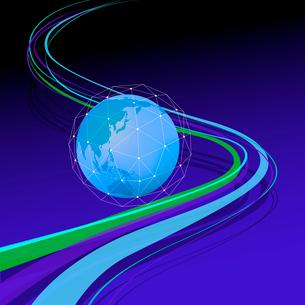 地球とネットワークのイラスト素材 [FYI03061150]