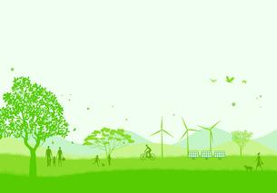 緑の街のイラスト素材 [FYI03061156]