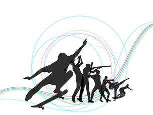 オリンピックスポーツのイラスト素材 [FYI03061191]