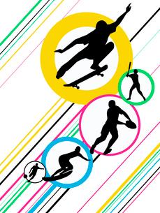 オリンピックスポーツのイラスト素材 [FYI03061204]