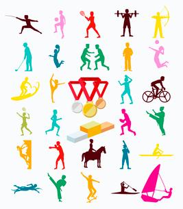 オリンピックスポーツのイラスト素材 [FYI03061209]