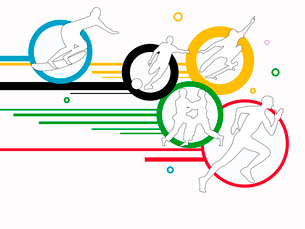 オリンピックスポーツのイラスト素材 [FYI03061212]