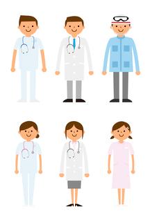 病院で働く人たちのイラスト素材 [FYI03061239]