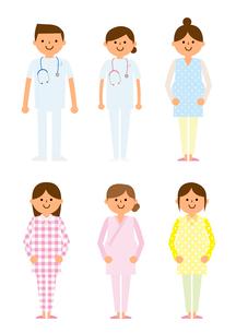 婦人科 妊婦と医者のイラスト素材 [FYI03061242]