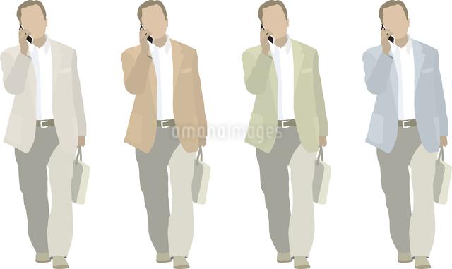 男性1人-携帯電話 色変えのイラスト素材 [FYI03061248]