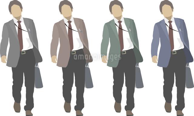 サラリーマン1人-色変えのイラスト素材 [FYI03061249]