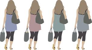 女性(後)1人-色変えのイラスト素材 [FYI03061251]