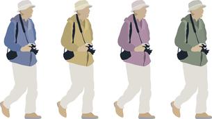 男性カメラ-1人-色変えのイラスト素材 [FYI03061264]