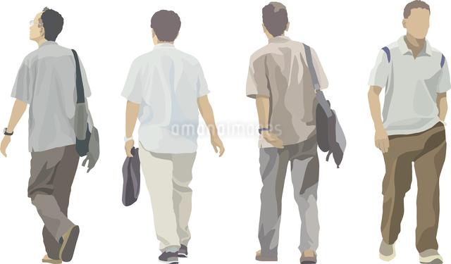 男のカジュアル(4人)のイラスト素材 [FYI03061307]