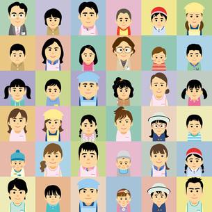 幼稚園保育園で働く人と子供の集合イラストのイラスト素材 [FYI03062559]
