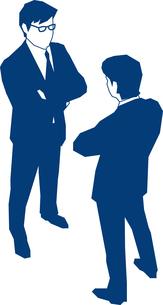 にらみ合いをする二人のビジネスマンのイラスト素材 [FYI03062907]