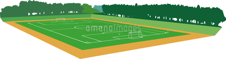 サッカーグラウンドのイラスト素材 [FYI03063185]