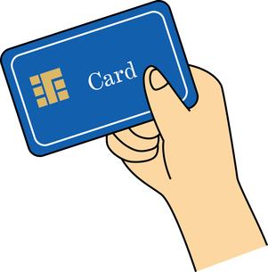 クレジットカード を持つ手のイラスト素材 [FYI03063261]