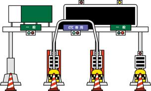 高速道路の料金所のイラスト素材 [FYI03063512]