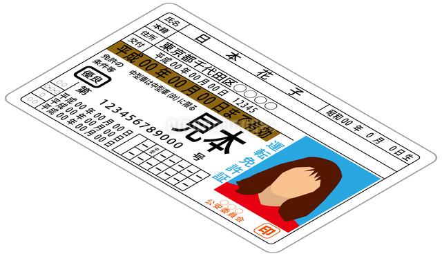 運転免許証のイラスト素材 [FYI03063587]