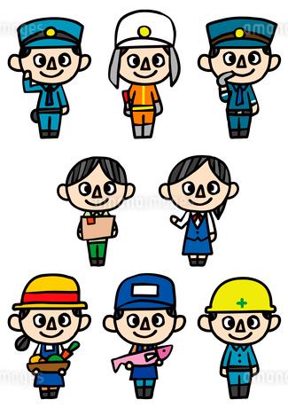 人物アイコン・職業のイラスト素材 [FYI03063715]