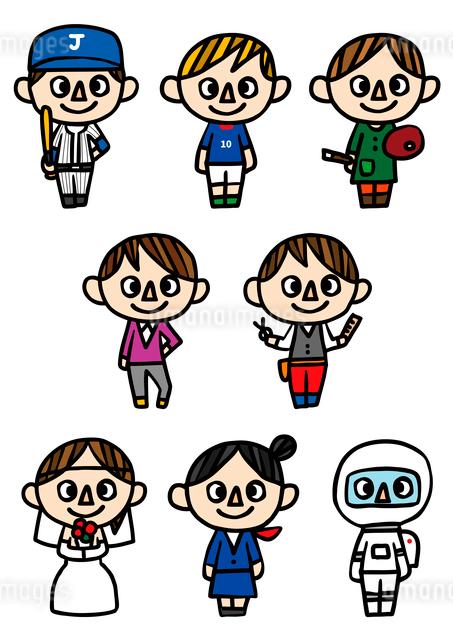 人物アイコン・職業のイラスト素材 [FYI03063716]