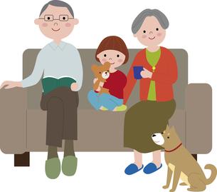 grandparents_grandchild_parentsのイラスト素材 [FYI03063743]