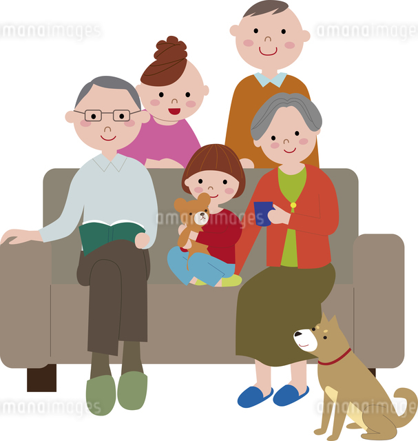 grandparents_grandchildのイラスト素材 [FYI03063745]
