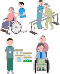 介護施設の老人のイラスト素材 [FYI03063751]