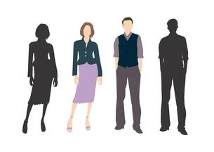 男性と女性のイラスト素材 [FYI03063857]