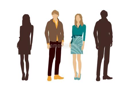 男性と女性のイラスト素材 [FYI03063858]