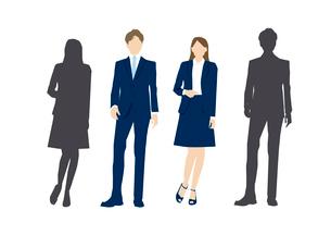 スーツ姿の男性と女性のイラスト素材 [FYI03063859]