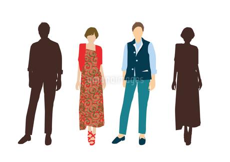 男性と女性のイラスト素材 [FYI03063860]