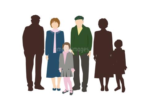 祖父母と孫娘のイラスト素材 [FYI03063863]