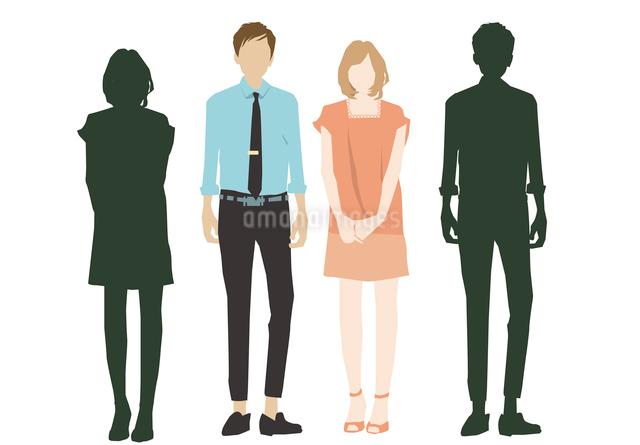男性と女性のイラスト素材 [FYI03063865]