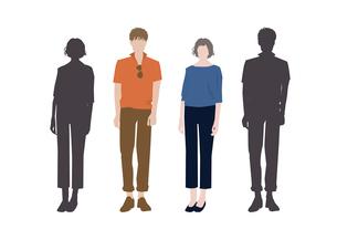 男性と女性のイラスト素材 [FYI03063866]