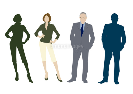 男性と女性のイラスト素材 [FYI03063868]