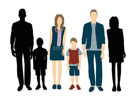 父と母と息子のイラスト素材 [FYI03063869]