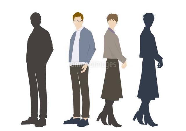 男性と女性のイラスト素材 [FYI03063870]
