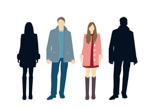 男性と女性のイラスト素材 [FYI03063871]