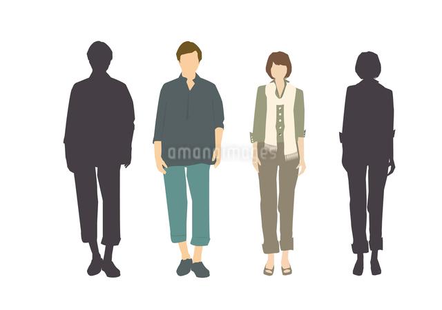 男性と女性のイラスト素材 [FYI03063872]