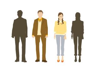 男性と女性のイラスト素材 [FYI03063873]