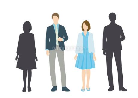 男性と女性のイラスト素材 [FYI03063874]