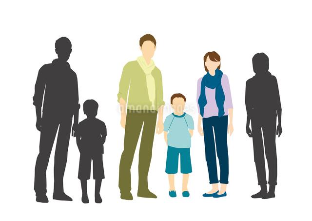 父と母と息子のイラスト素材 [FYI03063875]