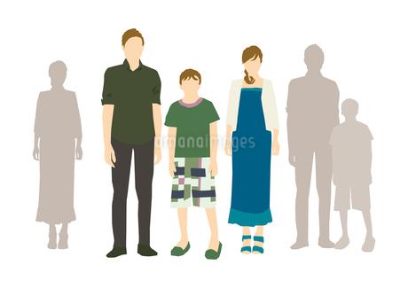 父と母と息子のイラスト素材 [FYI03063876]