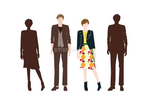 男性と女性のイラスト素材 [FYI03063877]