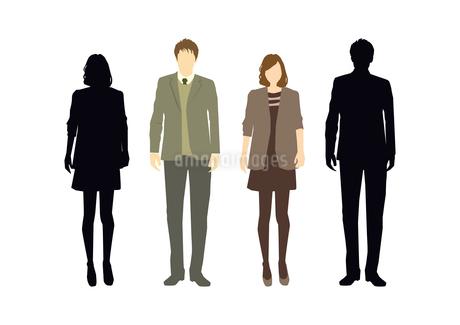 男性と女性のイラスト素材 [FYI03063880]