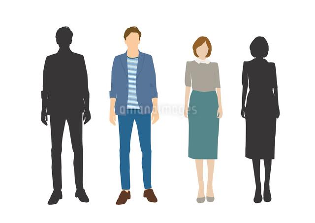 男性と女性のイラスト素材 [FYI03063881]